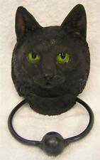 Nemesis  Now LUCKY BLACK GREEN-EYED CAT DOOR KNOCKER Witch Witches Pagan Wiccan