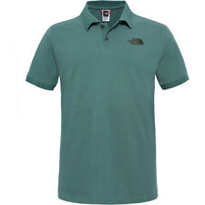 North Face Piquet Mens T-shirt Polo Shirt - Duck Green All Sizes
