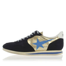GOLDEN GOOSE HOUS New Men Black gold Gym Casual Sneakers Shoes Made in Italy NWT