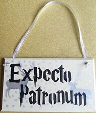 HANDMADE PLAQUE SIGN HANDPAINTED HARRY POTTER EXPECTO PATRONUM SPELL CHARM GIFT