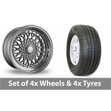 """4 x 19"""" Dare DR-RS Silver Chrome Rivets Alloy Wheel Rims and Tyres -  255/50/19"""