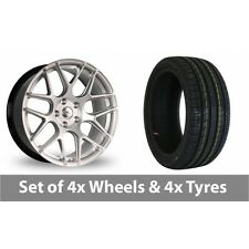 "4 x 19"" Dare River R-3 Hyper Silver Alloy Wheel Rims and Tyres -  235/35/19"