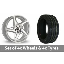 "4 x 19"" Dare River R-4 Silver Polished Alloy Wheel Rims and Tyres -  235/35/19"