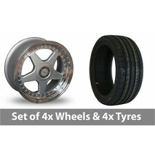 """4 x 17"""" Dare F5 Silver Alloy Wheel Rims and Tyres -  215/45/17"""