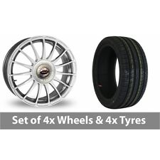 """4 x 17"""" Team Dynamics Monza R Alloy Wheel Rims and Tyres -  215/60/17"""
