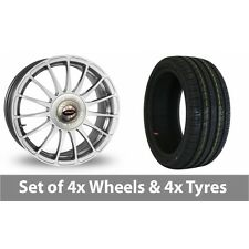 """4 x 17"""" Team Dynamics Monza R Alloy Wheel Rims and Tyres -  245/45/17"""