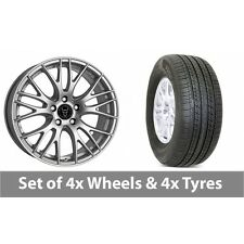 """4 x 19"""" Wolfrace Perfektion Silver Alloy Wheel Rims and Tyres -  255/50/19"""