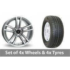 """4 x 19"""" Wolfrace X10 Silver Alloy Wheel Rims and Tyres -  255/50/19"""