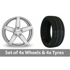 """4 x 17"""" Dezent TB Silver Alloy Wheel Rims and Tyres -  225/60/17"""