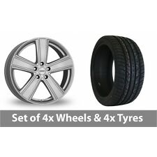 """4 x 20"""" Dezent TH Silver Alloy Wheel Rims and Tyres -  295/40/20"""