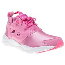 New Girls Reebok Pink Furylite Nylon Trainers Running Style Lace Up