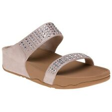 New Womens FitFlop Natural Novy Slide Suede Sandals Slides Slip On