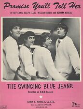 PROMISE YOU'LL TELL HER - THE SWINGING BLUE JEANS - UK SHEET MUSIC - 1964
