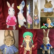 Beatrix Potter Animals Soft Toy Figures & Others Peter Rabbit Jemima Puddleduck