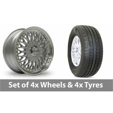 """4 x 19"""" Lenso BSX Silver Polished Alloy Wheel Rims and Tyres -  255/50/19"""