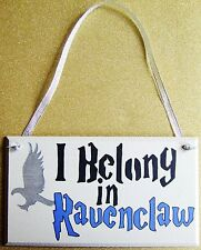 HANDMADE PLAQUE SIGN PAINTED HARRY POTTER HOGWARTS RAVENCLAW HOUSE LUNA CHO GIFT