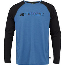Animal Action Mens T-shirt Long Sleeve - Sapphire Marl All Sizes