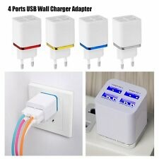 1/2/4 Port USB Ladegeräte Wall Charger Adapter for iPhone Samsung US/EU Stecker