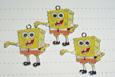 Cute Kitsch Kawaii Sponge Bob Square Pants Enamel Pendant Charms