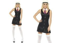 Sexy Schoolgirl Costume St Trinians Ladies Fancy Dress Outfit Size 8 - 18