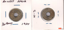 British West Africa - 1/10 penny 1934 holed coin