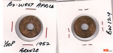 British West Africa - 1/10 penny  1952  bronze  holed coin