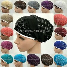 New Style Hot Drill Muslim Caps Hijab Islamic Hats Scarf Arab Headwear