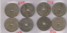 Belgium - 10 centimes Dutch and French legend set of 4 holed coins