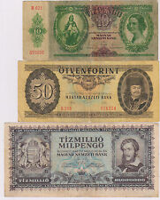 Hungary - 3 different currency notes