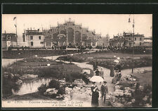 AK Lyon, Exposition Internationale 1914, Le Jardin et le Grand Hall mit Besuche