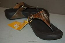 FitFlop Skinny Thong in Bronze US Size 10 Women's Fitflop Sandals