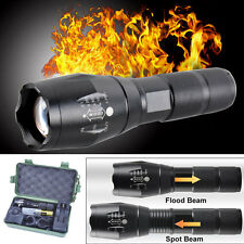 Zoomable 5000LM XML T6 LED Tactical Flashlight Torch+Charger+Battery+Holder Lot