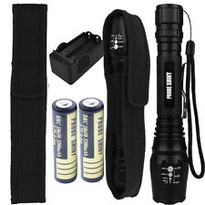 5000LM CREE XM-L T6 LED Tactical Flashlight Torch Lamp&18650 Battery&Charger Lot