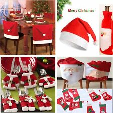 Christmas Decorations Santa Chair/Gift Bag Covers Dinner Bottle Decor Sock Party