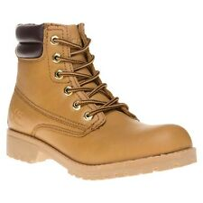 New Womens XTI Tan 62200 Synthetic Boots Ankle Lace Up
