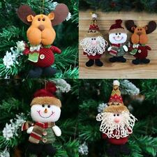 Christmas Xmas Tree Hanging Ornaments Santa Claus Fastival Gifts Home Room Decor
