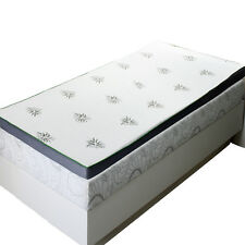 "Full Abripedic 2.5"" Cool Best Gel Memory Foam Mattress Topper Hypoallergenic"