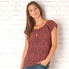 Womens Maison Scotch Silky Feel Printed Top In Red From Get The Label