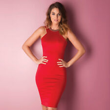 Womens Ax Paris Embellished Neckline Bodycon Dress In Red From Get The Label