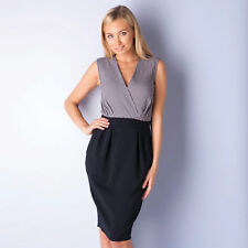 Womens Closet Polka Contrast Cross Over Dress In Navy From Get The Label