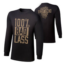 "WWE Becky Lynch ""100% Bad Lass"" Long Sleeve T-Shirt *NEU* S M L XL 2XL 3XL"