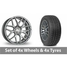 """4 x 19"""" Bola B8R Silver Alloy Wheel Rims and Tyres -  265/30/19"""