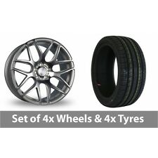 """4 x 18"""" Bola B8R Silver Polished Face Alloy Wheel Rims and Tyres -  235/45/18"""