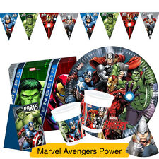 Marvel AVENGERS POWER Birthday Party Range - Tableware & Decorations {Procos}