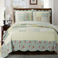 Twin Size Wrinkle-free Annabel Oversize Coverlet Reversible 100% Microfiber