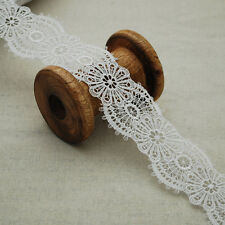 Black Floral Guipure Lace Trim Wide 3cm 30mm Flower Trimming GLB06