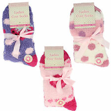 41b253/2- Ladies Forever Dreaming Cosy Socks 3 Designs/Colours- UK 4-8!