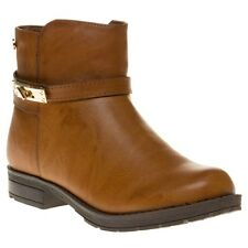 New Girls XTI Tan 53835 Synthetic Boots Ankle Zip