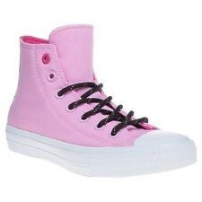 New Womens Converse Pink Chuck Taylor All Star II High Canvas Trainers Lace Up