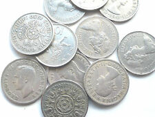 BUY 2 GET 1 FREE 1947/1981 LARGE/OLD GEORGE VI/ELIZABETH II TWO SHILLING 10p '''